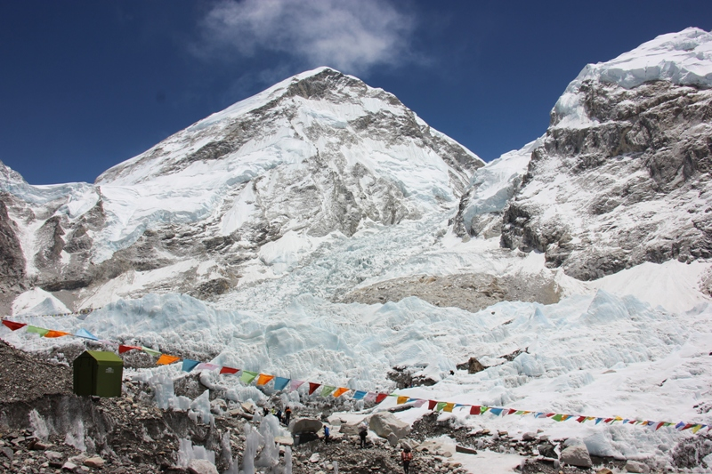 Base camp with glacier view trek Nepal