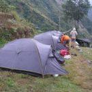 Camping trek Nepal.