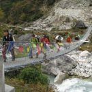 Mountain view with budged trek Nepal
