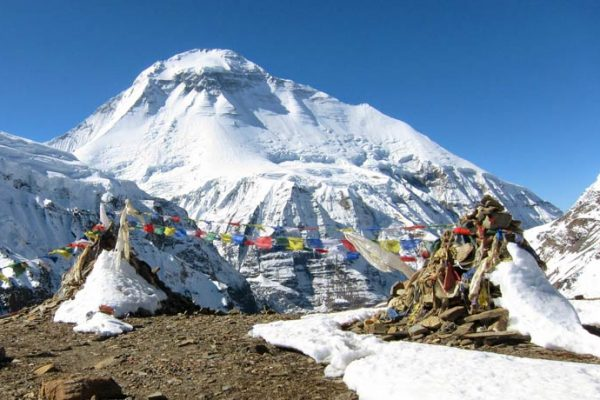 Dhaulagiri Pass and Thapa Peak